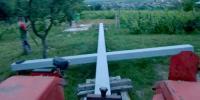 Dvanaestmetarski križ postavljen u malinskom brdu